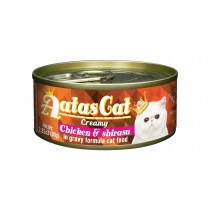 Aatas Cat Canned Creamy Chicken & Shirasu 80g