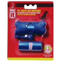 Dogit Waste Bag Dispenser - 2 Rolls/10 Bags - Blue