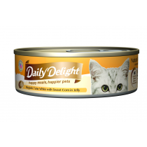 Daily Delight Cat Canned Skipjack Tuna White with Sweet Corn in Jelly - 80g
