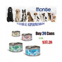 Monge 'Dog Canned Bundle Mix - 24 For $37.20