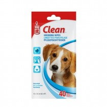 Dogit Clean Grooming Wipes - Unscented - 40 pack
