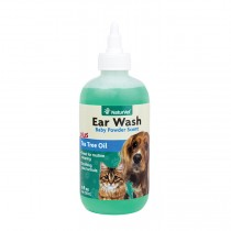 NaturVet Ear Wash Liquid Plus Tea Tree Oil 40z