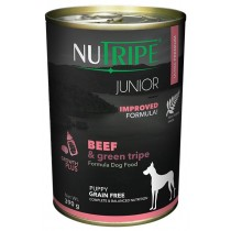 Nutripe Dog Canned Pure Junior Beef & Green Tripe Formula 390g