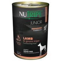 Nutripe Dog Canned Pure Junior Lamb & Green Tripe Formula 390g