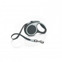 Flexi Vario Retractable Tape Leash Anthracite - 4 Sizes