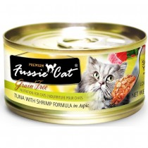 Fussie Cat Canned Premium Tuna With Shrimp In Aspic - 80g