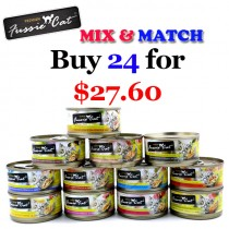 'Fussie Cat' Canned Food Premium - Bundle Mix - Buy Any 24 for $27.60