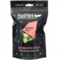 FuzzYard Supernaturals Seafood With Spinach Freeze Dried Dog Treats 70g