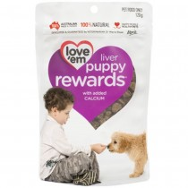 Love 'Em Liver Puppy Rewards 120g