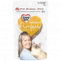Love'em Purrfect Chicken Liver Cat Treats 90g