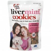 Love'em Chicken & Cranberry Mini Cookies 300g
