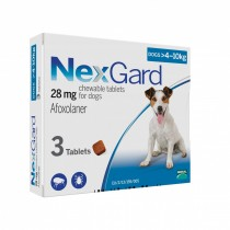 NexGard Chews For Medium Dogs 4-10kg - 3 & 6 Tablets