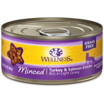 Wellness Cat Canned Complete Health™ Minced Turkey & Salmon Dinner 5.5oz