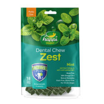 "Happi Doggy Dental Chew Zest Mint - Petite 2.5"" 150g"
