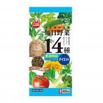 Marukan Hairball Control Food for Rabbit w/ 14 Kinds of Vegetables [ML45]