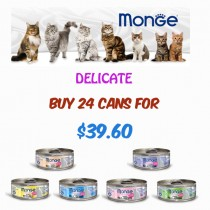 Monge 'Cat Canned Delicate Bundle - Bundle Mix - Buy Any 24 for $39.60