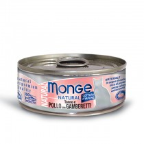 Monge Cat Canned Natural Tuna & Chicken with Shrimps 80g