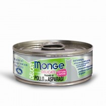 Monge Cat Canned Delicate Chicken with Asparagus 80g