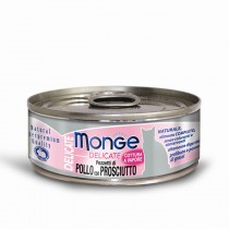 Monge Cat Canned Delicate Chicken with Ham 80g