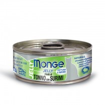 Monge Cat Canned Jelly Yellowfin Tuna with Surimi 80g