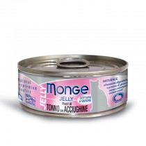 Monge Cat Canned Jelly Yellowfin Tuna with Whitebait 80g