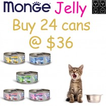 Monge 'Cat Canned Jelly - Bundle Mix - Buy Any 24 for $36.00