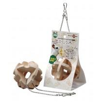 Marukan Hanging Wooden Cube Ball [MR264]