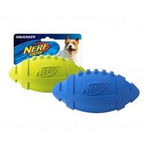Nerf Dog Squeaker Rubber Football M - Blue/Green