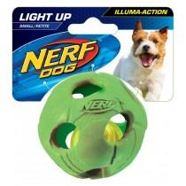 Nerf Dog Illuma-Action - Light Up Led Ball S - Blue/Green
