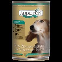 Addiction Dog Can New Zealand Brushtail & Vegetables 390g