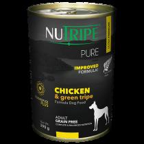 Nutripe Dog Canned Pure Chicken & Green Tripe Formula 390g