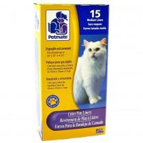 Petmate Cat Litter Box Liner 15 Medium