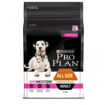 Pro Plan Dog - Sensitive Skin & Stomach with OPTIRESTORE Adult - Available in 2.5kg & 12kg