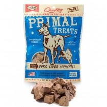 Primal Treats Freeze Dried Pork Liver Munchies For Dog & Cat 2oz