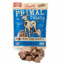 Primal Treats Freeze Dried Turkey Liver Munchies For Dog & Cat 2oz
