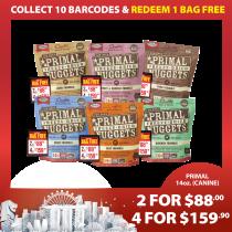 'Primal Freeze-Dried Canine 14oz (Quartet Bundle Mix) - Buy 4 For $159.90