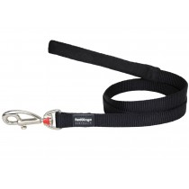 Red Dingo Dog Fixed Length Lead Classic - Black - Available In S, M, ML & L