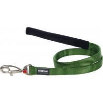 Red Dingo Dog Fixed Length Lead Classic - Green - Available In S, M, ML & L