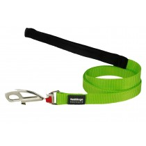 Red Dingo Dog Fixed Length Lead Classic - Lime Green - Available In S, M, ML & L