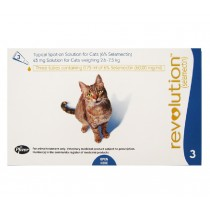 Revolution Topical Spot On for Cats 2.6 - 7.5kg (Blue) 3 Doses
