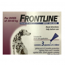 FRONTLINE® Spot On For Dogs 20-40Kg – 3 Pipettes