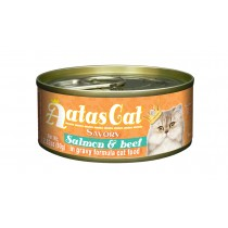 Aatas Cat Canned Savory Salmon & Beef in Gravy 80g