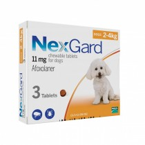 NexGard Chews For Small Dogs 2-4kg - 3 & 6 Tablets