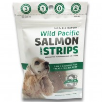 Snack 21 Wild Pacific Salmon Jerky Strips Dog Treats 25g