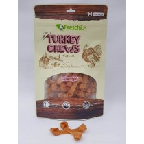 A Freschi srl Chews - Soft knotted Turkey Tendon Strip 80g