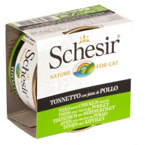 Schesir Cat Canned Jelly Tuna with Chicken 85g