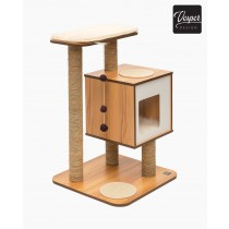 Vesper Cat Furniture V-Base 55.5 x 56 x 81.5cm - Available in Walnut & Black colour