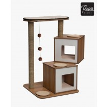 Vesper Cat Furniture V-Double 103.5 x 65 x 65cm - Available in Walnut & Black colour