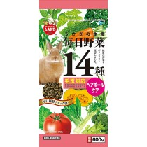 Marukan Hairball Control Food for Rabbit w/ 14 Kinds of Vegetables [ML44]