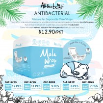 Altimate Pet Antibacterial Male Wrap Available size in - Toy, S, M, L & Giant